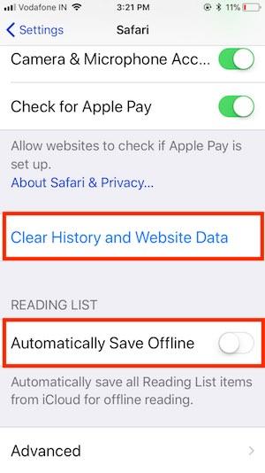 6 Clear Safari Data from iPhone