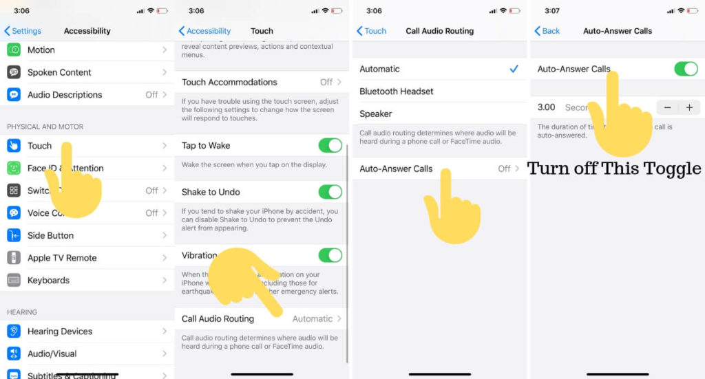 Enable or Disable Auto Answer Call on iPhone and iPad in iPadOS