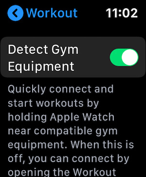 Quickly connect Gym Equipment with apple watch