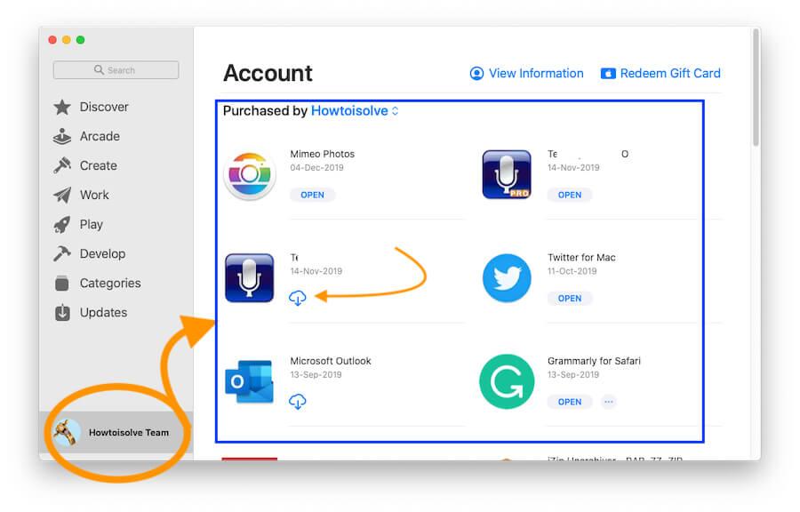 Re-download Purchased App on MacBook Mac Computer