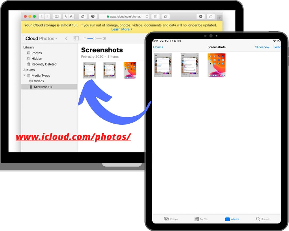 View or access iCloud Drive photos on Mac or PC