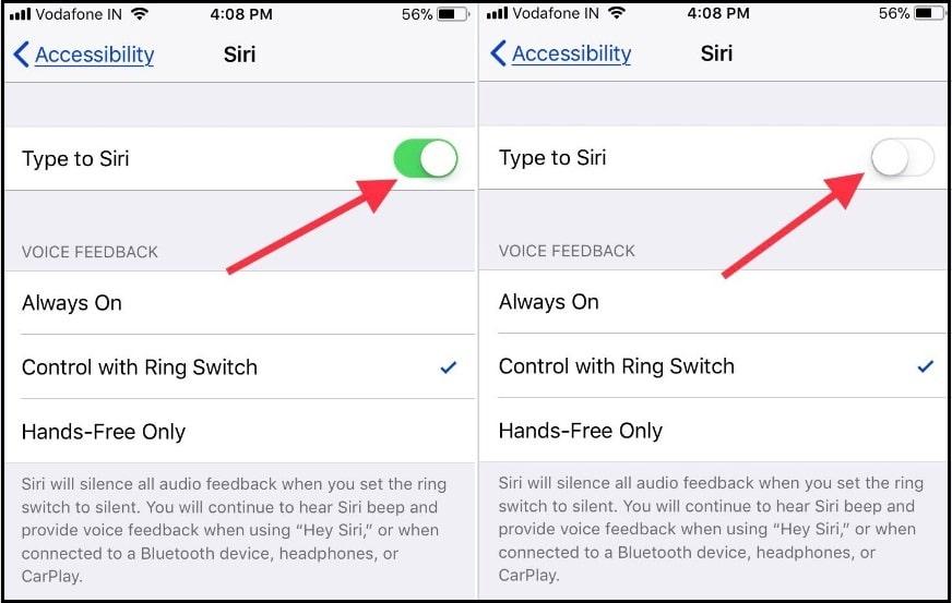 Stop turn off Type to Siri on iPhone iPad iOS 11
