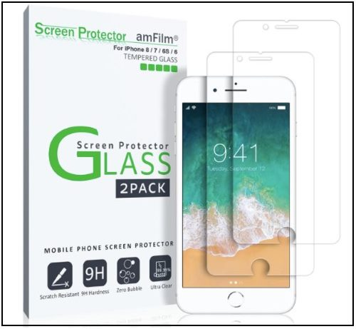 1 AmFilm Tempered Screen Protector for iPhone 8