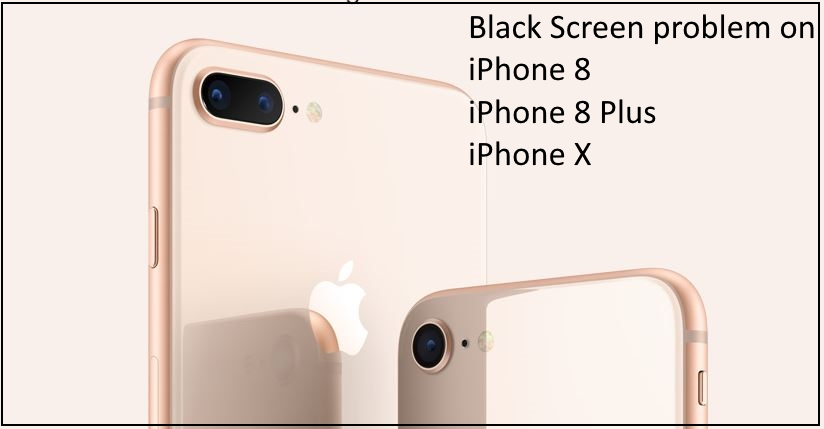 1 Black Screen Problem on iPhone 8 iPhone 8 Plus and iPhone X