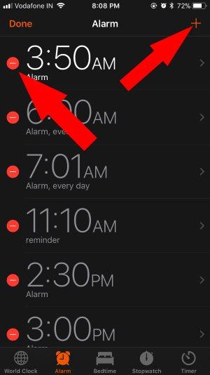 10 Delete or Add New alarm on iPhone clock app