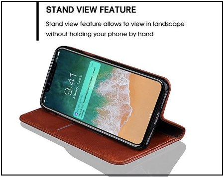 10 INFLATION Leather iPhone 8 Stand Case