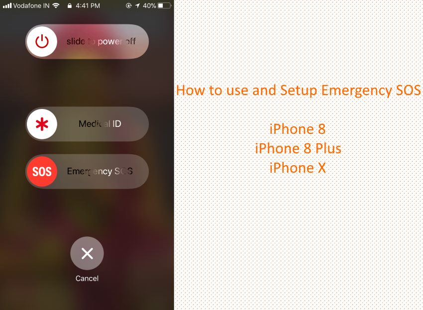 10 SOS location screen for iPhone in iOS 11
