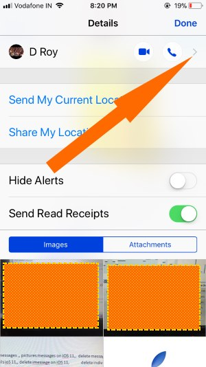 11 Block contact on iPhone message Profile details