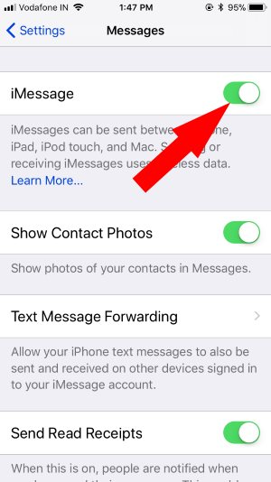 2 Activate iMessage on iPhone 8 8 Plus and iPhone X