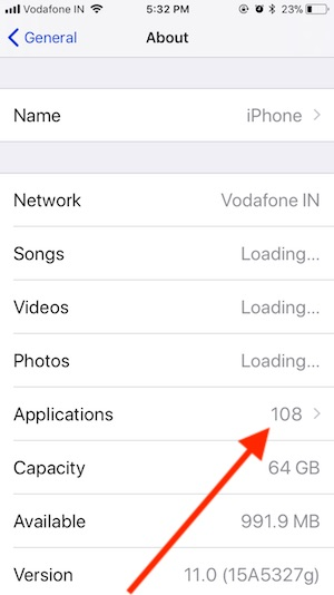 2 Applications in iPhone Settings