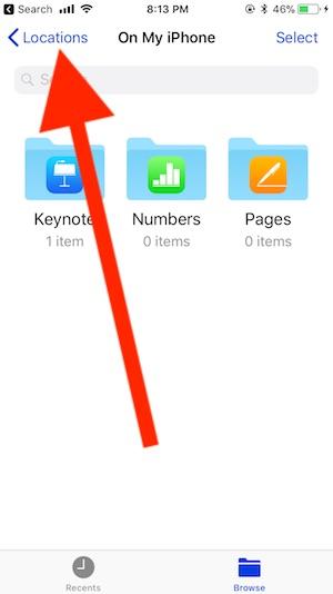 2 Files app on iPhone in iOS 11