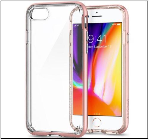2 Spigen iPhone 8 Clear Bumper case