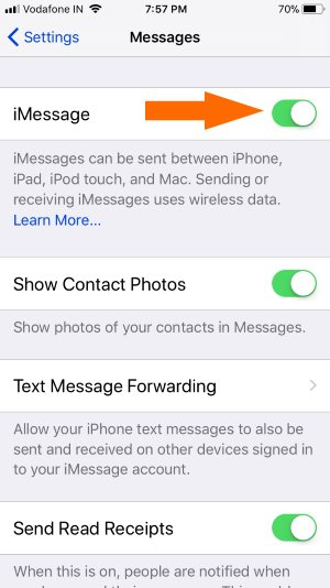 3 Activate or Turn on iMessage on iPhone