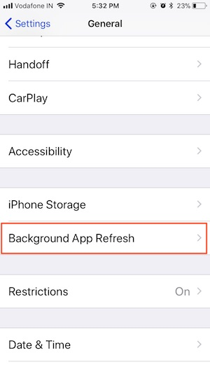 3 Background App Refresh on iPhone