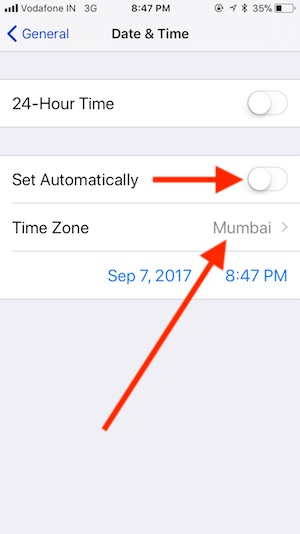 4 Settings for Data and Time on iPhone in iOS 11