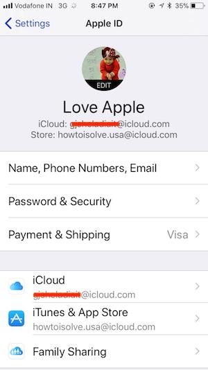 5 iCloud Profile on iPhone