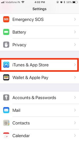 5 iTunes & App Store on iPhone 8