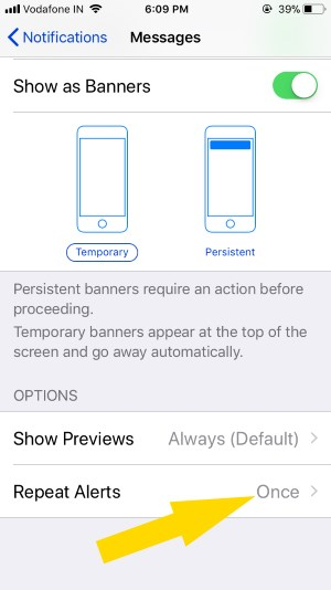 7 Manage Alerts for Message alerts on lock screen on iPhone