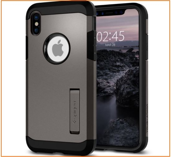7 Spigen Tough iPhone X kickstand case in Bumper protective