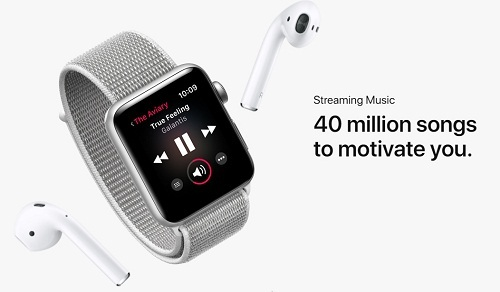 Apple Watch 3 Streaming music 40 millions Songs to motivate you