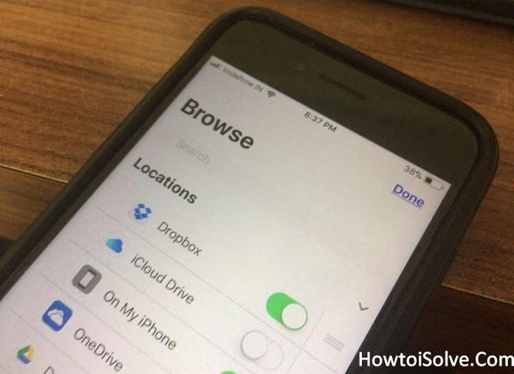 How to Add Dropbox to Files App in iOS 11 on iPhone iPad Pro iPad mini