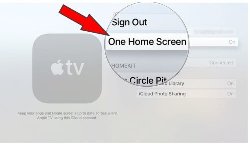 Turn on One Home screen on Apple TV 4K Apple TV 4th generation