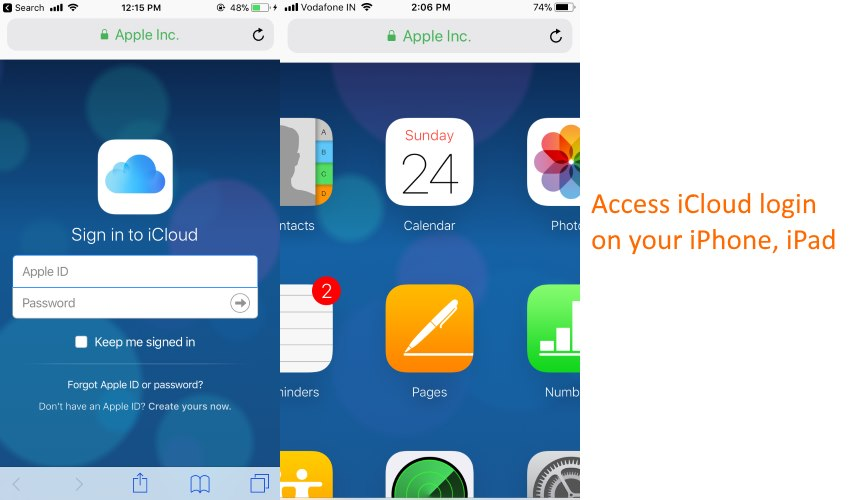 Use iCloud login on iPhone