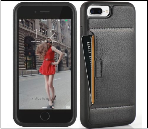 1 ZVE iPhone 8 Plus Leather card case