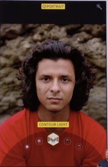 3 Contour Light on iPhone X Portrait mode