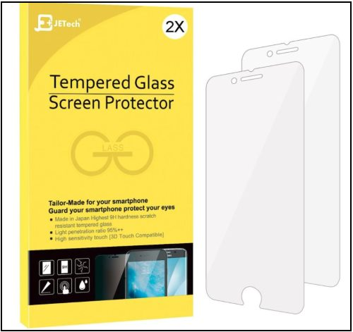 3 JEtech iPhone 8 Screen Protector for iPhone 8 Plus