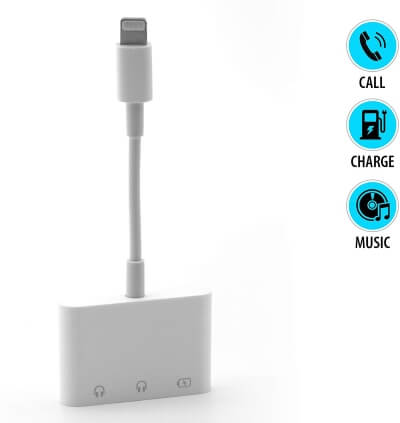 3-in-1 Headphone Adapter for iPhone
