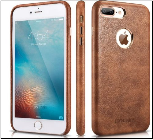 4 CIVPOWER iPhone 8 Plus thin leather back cover and Case