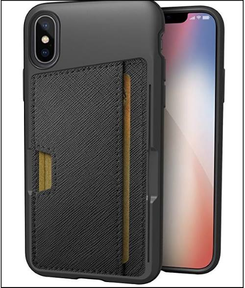 6 Silk Slim Protective Kickstand card case for iPhone X