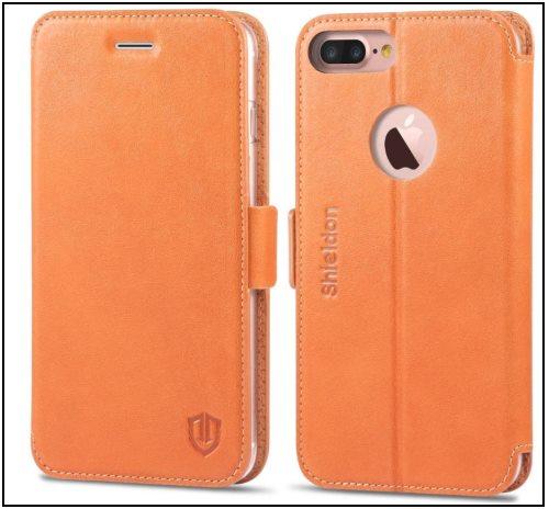 7 SHIELDON iPhone 8 Plus Folio Style Case