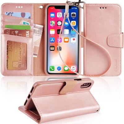 Arae– Best iPhone X Slim Leather Case