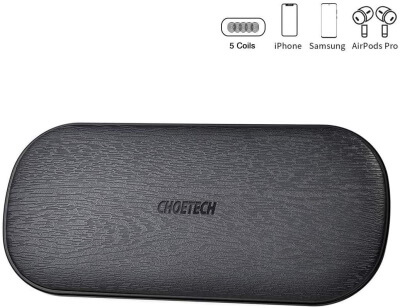 Choetech Smart Dual Wireless Charger