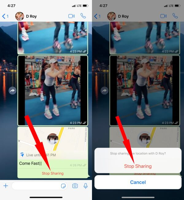 How to Stop Sharing Live Location on WhatsApp