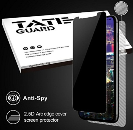 iPhone 10 Screen privacy Protector, Anti Spy