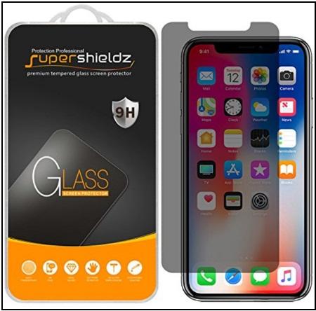 Supershieldz for Apple best iPhone X Privacy screen protctor
