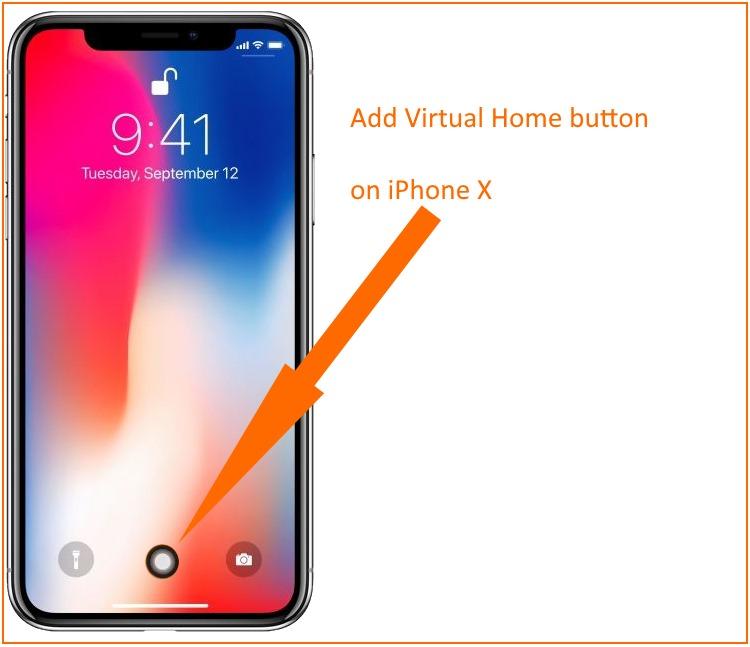 1 Add Virtual Home button on iPhone X screen