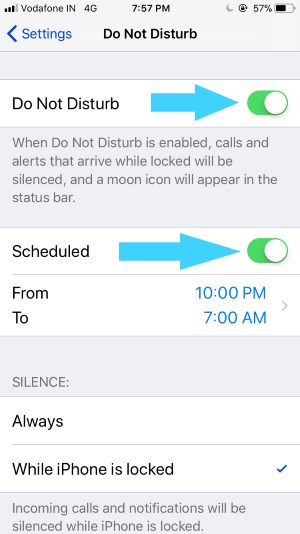 1 Enable Do Not Disturn on iPhone Manually