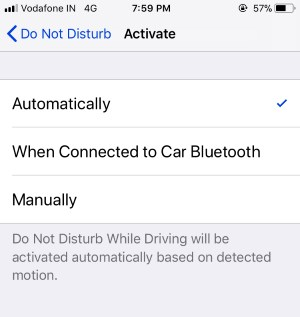 4 Activate DND for iphone