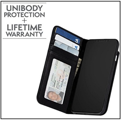 Best Case- Mate iPhone X Folio Case of Leather