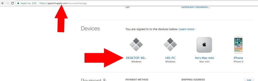 Change or remove apple ID from Device remotely