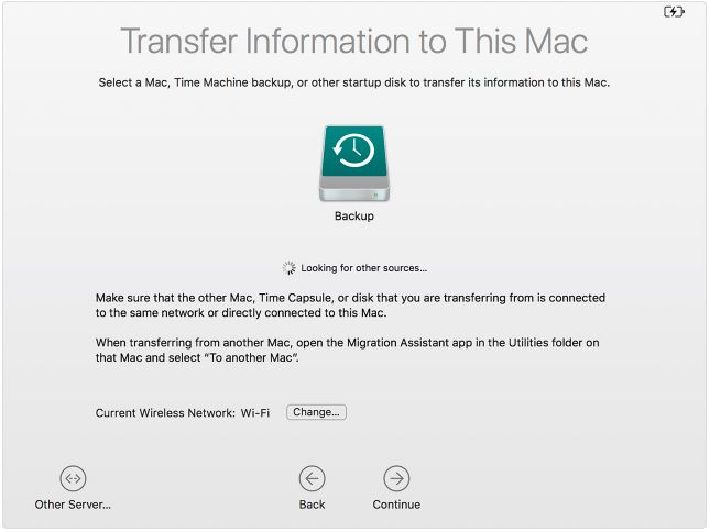 3 Transfer information to new Mac
