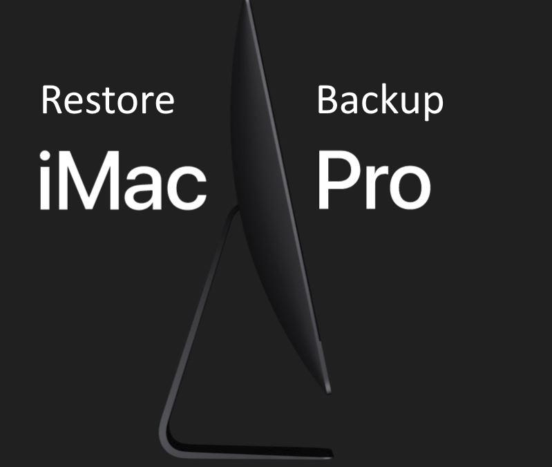 6 Restore Backup on iMac Pro