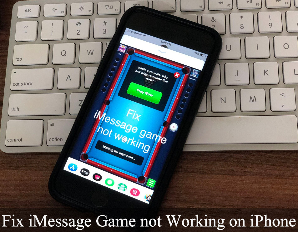 Fix iMessage game not working X, iPhone 8 plus, iPhone 7 Plus