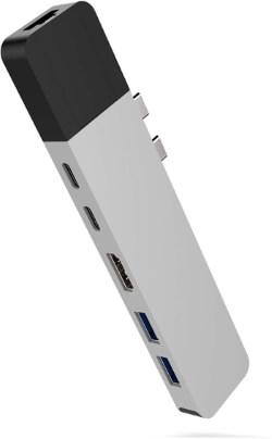 HyperDrive USB C Hub, Dual Type C Hub Adapter for MacBook Pro 2017