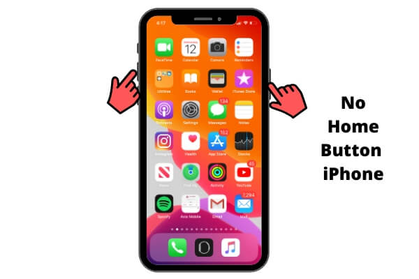 Take a Screenshot on iPhone X or later no home button iPhone