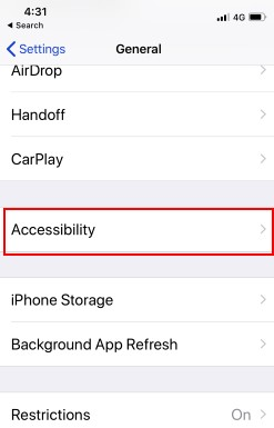 1 Accessibility on iPhone X